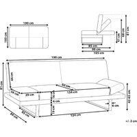 Modern Fabric Sofa Bed Navy Blue Polyester Reclining Eucalyptus Wood Frame York
