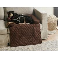 Polyester Pet Bed for Sofa Dog Cat Couch Protection Brown Bozan
