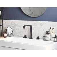 Modern Matt Bathroom Basin Tap Brass Mixer Sink Twin Levers Black Kagera