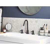Modern Matt Bathroom Basin Tap Mixer Sink Twin Levers Black Kalambo