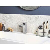 Modern Bathroom Basin Mixer Tap Chromed Glossy Silver Fixture Irupu