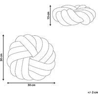 Knot Cushion Modern Yellow Velvet Tied-Up Plushy 30 x 30 cm Akola