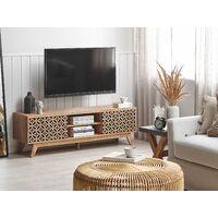 TV Stand Entertainment Unit MDF Printed Door Living Room Light Wood Prescot