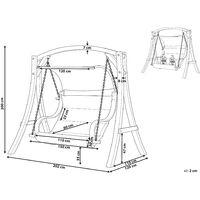 Modern Garden Swing Set Fabric Larch Wood Frame White Aprilia