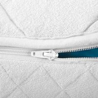 Waterbed Super King 6ft Mattress Cotton Polyester Cover White Zipper