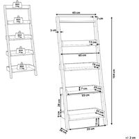 Modern Ladder Shelf 5 Tiers Leaning Bookcase White Mobile Trio