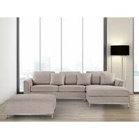 Corner Sofa L-Shaped Left Hand Modern Upholstered Living Room Oslo