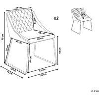 Set of 2 Velvet Dining Chair Retro Metal Sled Base Living Room Navy Blue Arcata