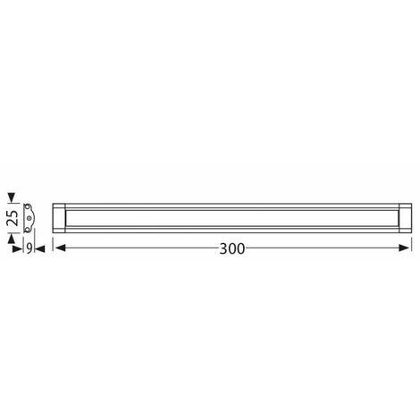 Réglette LED 50 CM Dimmable tactile avec alimentation