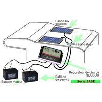 Kit panneau solaire 30W 12V camping car