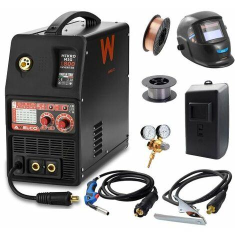 Awelco Inverter Schutzgas Schweißgerät Mikromig 1800 EURO + Zubehör
