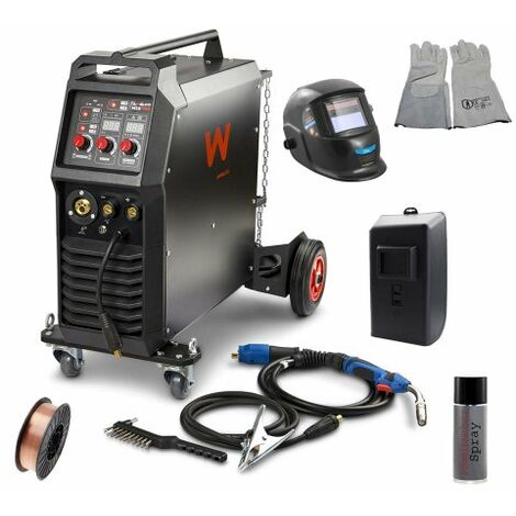 Awelco Inverter Schutzgas Schweißgerät MIG 350 + Set 4 tlg.