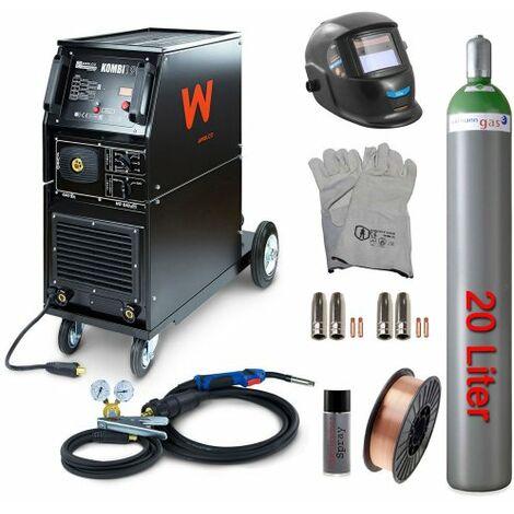 Awelco Schutzgas Schweißgerät MIG 190 Kombi + Zubehör 7 tlg.