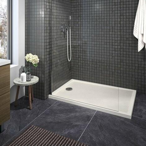 CAREA - Receveur CAPRI rectangle 80x120 cm - Couleur receveur - Blanc - Blanc