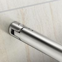 Walk-in Cristallo Temperato 8mm con Paretina Movibile 40cm Barra Stabilizzatrice 70-120cm misura 100x200cm
