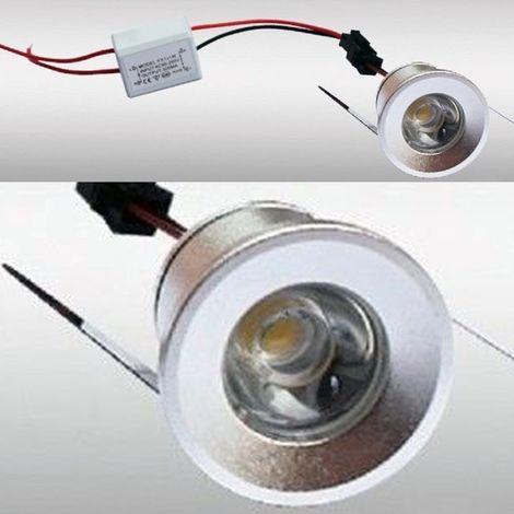 FARETTO A LED DA INCASSO FORO 25MM 1 LED 1W LUCE CALDO FREDDO PER INTERNO IP20 | Luce Fredda