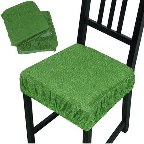 Cuscino sedia sfoderabile cotone lavabile fascia elastica coprisedia casa cucina
