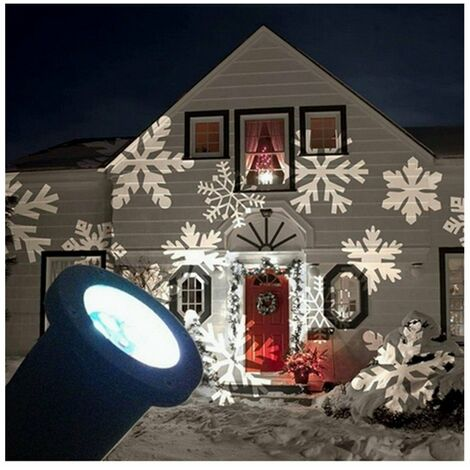 Addobbi Natalizi Esterno.Proiettore Faretto Led Effetto Fiocco Di Neve Bianca Addobbi Natale Per Esterno 5661