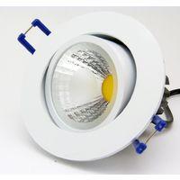 FARETTO LED COB INCASSO da 3W 5W 7W 12W 20W 30W CON MOLLE ALETTE ALTA POTENZA | Bianco - Luce Fredda - 5 Watt
