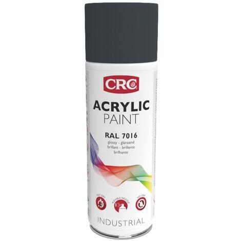 Peinture Acryl Gris Anthracite ral 7016 aérosol de 400ml net CRC