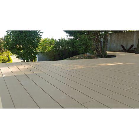 Kit complet 25 m² terrasse composite beige