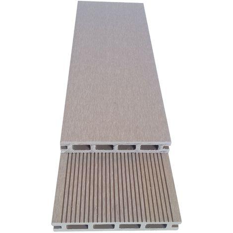 Lame terrasse composite beige 2.60m - Garantie 7 ans - réversibles  - Couleur Beige