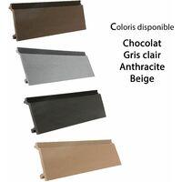 Lame bardage composite anth. 2.60 m aspect contemporain Anthracite