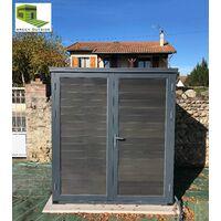 Abri composite MAXI 1,80 x 1,80 ht 2,00 m, Gris
