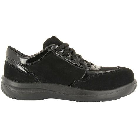 Foxter - Chaussures de sécurité | Femmes | Basses | Baskets de Travail | Légères et Respirantes | Imperméable | Sans métal | S3 SRA 41 Noir - Noir