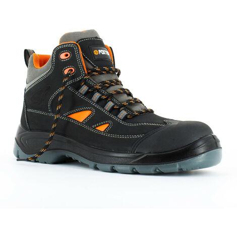 Foxter - Chaussures de sécurité | Hommes | Montantes | Légères | Imperméable | Sans métal | Cuir Noir | S3 SRC 41 Noir - Noir