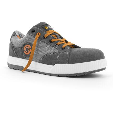 Foxter - Chaussures de sécurité | Hommes | Basses | Baskets de Travail | Légères et Respirantes | S1P SRC 43 Gris - Gris