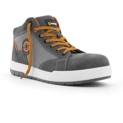 Foxter - Chaussures de sécurité   Hommes   Montantes   Baskets de Travail   Légères et Respirantes   S1P SRC 48 Gris - Gris