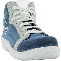 Foxter - Chaussures de sécurité | Femmes | Montantes | Baskets de Travail | Légères et Respirantes | Imperméable | Sans métal | Cuir Bleu | S3 SRA 39 Bleu - Bleu