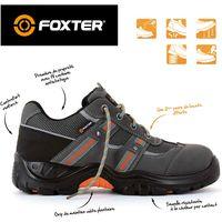 Foxter - Chaussures de sécurité | Mixte : Hommes et Femmes | Basses | Baskets de Travail | Légères et Respirantes | S1P SRC 47 Gris - Gris