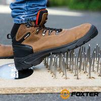 Foxter - Chaussures de sécurité   Mixte : Hommes et Femmes   Montantes   Imperméable   Cuir   S3 SRC 46 Marron - Marron