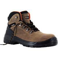 Foxter - Chaussures de sécurité | Mixte : Hommes et Femmes | Montantes | Imperméable | Cuir | S3 SRC 47 Marron - Marron
