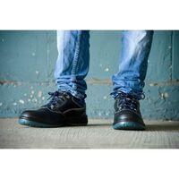 Foxter - Chaussures de sécurité   Mixte : Hommes et Femmes   Basses   Respirantes   Imperméable   Sans métal   Cuir Noir   S3 SRC 47 Noir - Noir