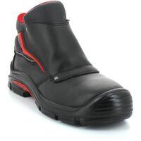 Foxter - Chaussures de sécurité | Hommes | Basses | Imperméable | Cuir Noir | S3 SRC 45 Noir - Noir