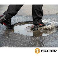Foxter - Chaussures de sécurité   Hommes   Basses   Imperméable   Cuir Noir   S3 SRC 48 Noir - Noir