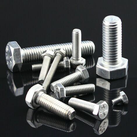 100 St/ück M2,5 x 8 mm Sechskantschrauben DIN 933 Edelstahl A4 V4A Maschinen Gewinde Schraube