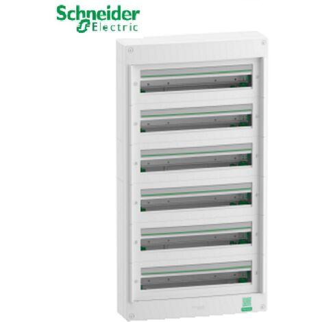 Coffret électrique saillie 6 rangées 24 modules Rési9 Schneider R9H24406