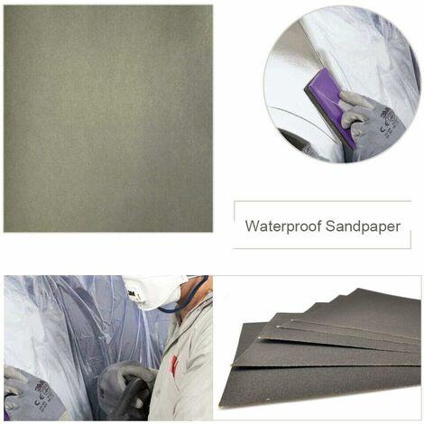 Grain 1000 230*280mm 10 feuilles Papier de verre carré Imperméable grain panaché pour ponçage automobile meubles en bois travail
