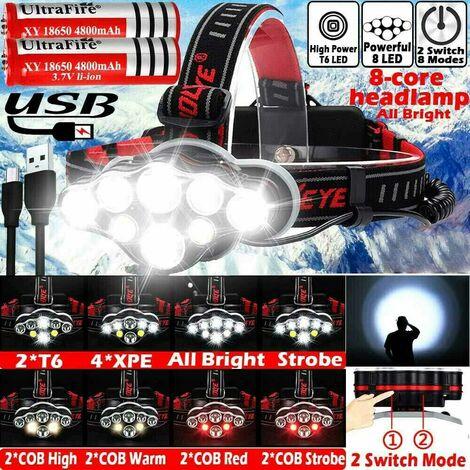 Lanterne Camping LED Mini Rechargeable Lumière Chaude Veilleuse vélo 8 Modes USB