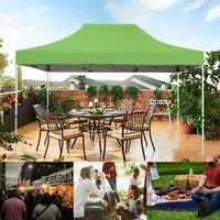 Tente pliante verte 3x4,5m PREMIUM LIGHT Tube 32mm en acier Bâche 420D étanche Pavillon jardin Tonnelle réception + Sac de transport