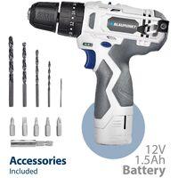 Blaupunkt Cordless Combi-Drill / Hammer Drill CD4000 - 12V Li-ion Battery