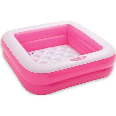Pataugeoire gonflable carrée rose de Intex - Piscine enfant