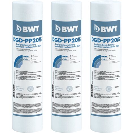 Cartouche anti-impuretés DGD - Lot de 3 de BWT - Cartouches filtrantes