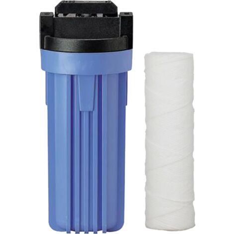 Filtre anti-impuretés 10 avec by-pass 3/4 et cartouche bobinée 20µ de Centrocom - Filtres eau domestique