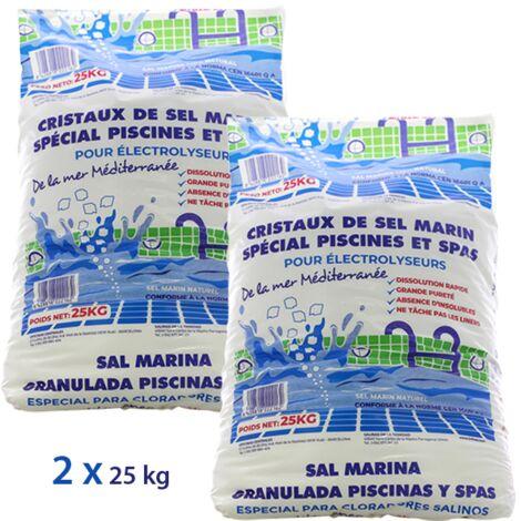 Sel pour électrolyse piscine - 2x25kg de Centrocom - Piscine au sel