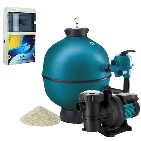 Kit filtration piscine - 7x3 m de Centrocom - Kit construction piscine